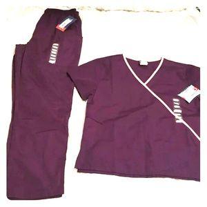 NWT Purple/pink Cherokee Scrub Set
